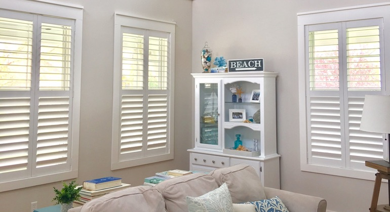 plantation shutters in Charlotte sunroom